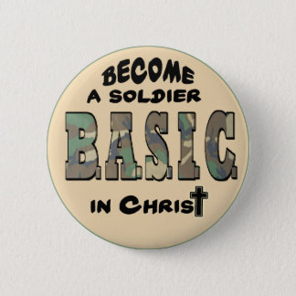BASIC CHRISTIAN ACRONYM - SOLDIER IN CHRIST BUTTON
