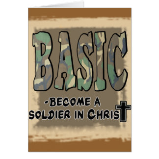 BASIC CHRISTIAN ACRONYM - SOLDIER IN CHRIST CARD