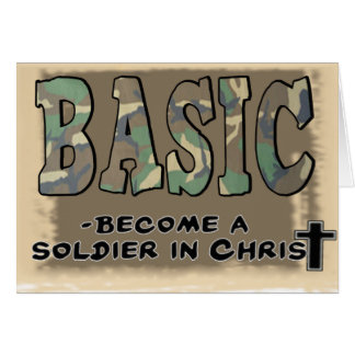 BASIC CHRISTIAN ACRONYM - SOLDIER IN CHRIST GREETING CARD