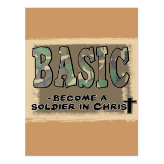 BASIC CHRISTIAN ACRONYM - SOLDIER IN CHRIST POSTCARD