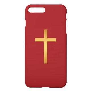 Basic Christian Cross Golden Ratio Gold Red iPhone 7 Plus Case
