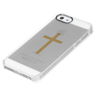 Basic Christian Cross Golden Ratio Yellow Red Clear iPhone SE/5/5s Case