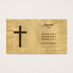 Basic Christian Cross Wooden Veneer Maple Rosewood Business Card at Zazzle