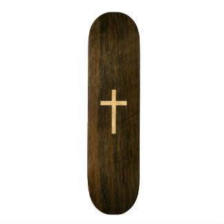 Basic Christian Cross Wooden Veneer Maple Rosewood Skateboard