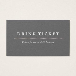 Basic Clean Grey Drink Ticket