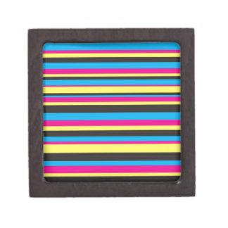 Basic Color Stripes Gift Box
