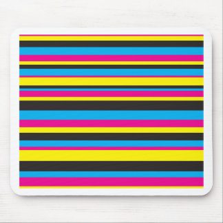 Basic Color Stripes Mouse Pad