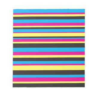 Basic Color Stripes Notepad