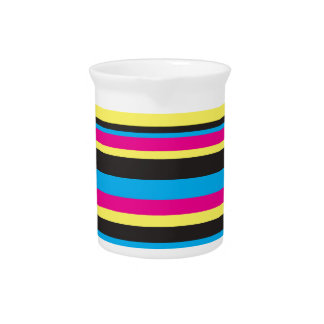 Basic Color Stripes Pitcher