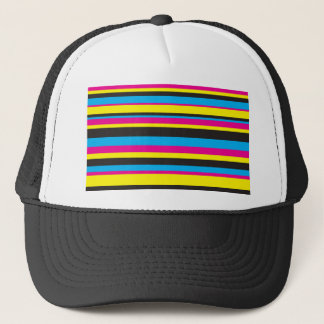 Basic Color Stripes Trucker Hat