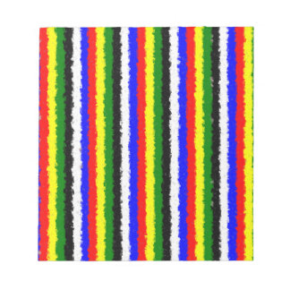 Basic Colors Curly Stripe Notepad