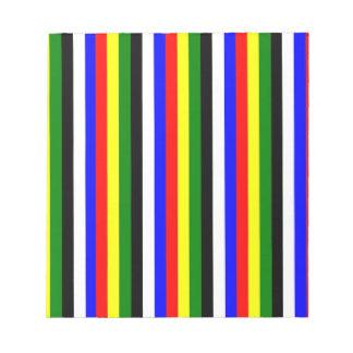 Basic Colors Stripe Memo Pad