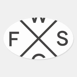 Basic Company Oval Sticker