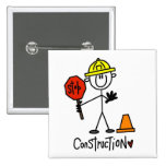 Basic Construction Tshirts and Gifts Button
