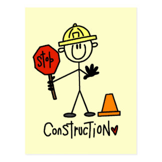 Basic Construction Tshirts and Gifts Postcard