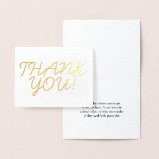 """Basic, Custom and Plain """"THANK YOU!"""" Card"""