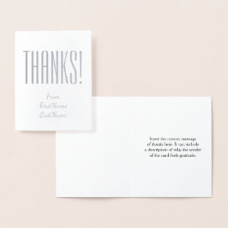 "Basic & Customized ""Thanks!"" Card"