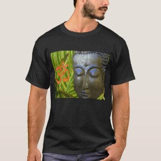 Basic Dark T-Shirt -- Announcing Om Buddha
