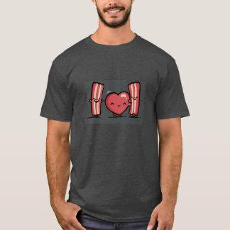 basic dark t-shirt,valentine's day, humor, bacon T-Shirt