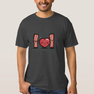 basic dark t-shirt,valentine's day, humor, bacon tee shirt