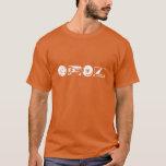 Basic Dark T - White logo with alanfraze.com T-Shirt