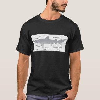 Basic Diagram of a Shark Selachimorpha T-Shirt