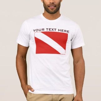Basic Dive Flag Template Shirt