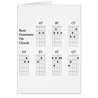 Basic Dominant Seventh Chords Card