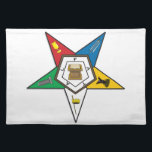 "BASIC EASTERN STAR CLOTH PLACEMAT<br><div class=""desc"">The Order of the Eastern Star is a Freemasonry-related fraternal organization open to both men and women. It was established in Mississippi, in 1850 by educator and Freemason Dr. Rob Morris. The order is based on five Biblical Heroines and the Star of Bethlehem, but is open to people of all...</div>"