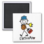 Basic Electrician Tshirts and Gifts 2 Inch Square Magnet