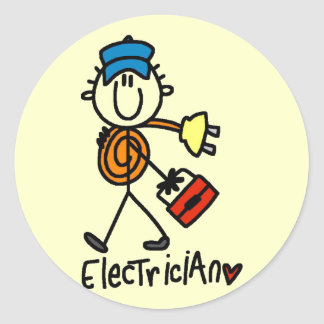 Basic Electrician Tshirts and Gifts Round Sticker