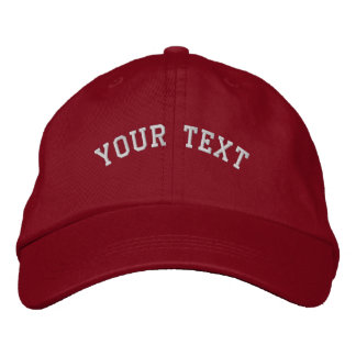 Basic Embroidered Red/White Cap Template Baseball Cap
