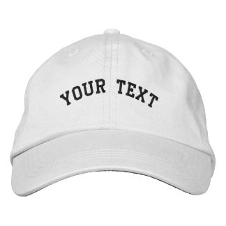 Basic Embroidered White Cap Template