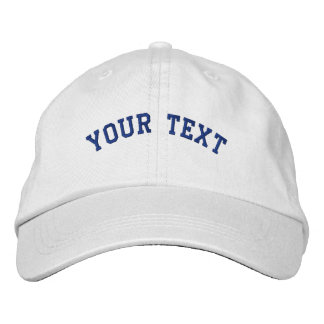 Basic Embroidered White/Royal Cap Template Embroidered Baseball Cap