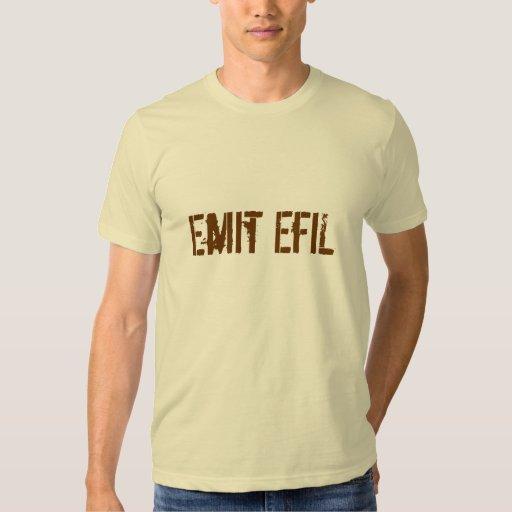 Basic Emit EfiL Tee-Creme/Brown T-Shirt