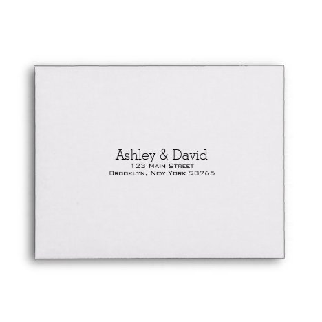 Basic Essential Note Card Return Address Envelope