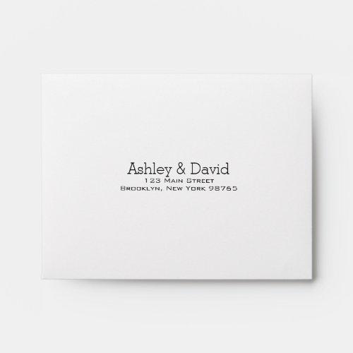 Basic Essential Note Card Return Address Envelope