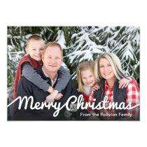 Basic Family Photo Christmas Card Template