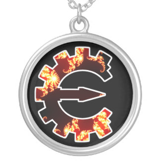 Basic Fractal Logo Round Pendant Necklace