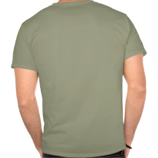 basic front logo and back print tee shirt