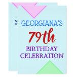 "[ Thumbnail: Basic, Fun ""79th Birthday Celebration"" Invitation ]"