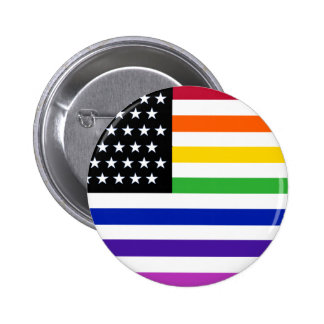 Basic Gay US Flag Crop Button
