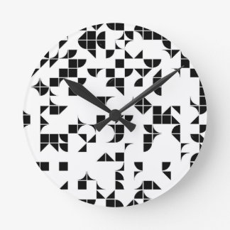 Basic Geometry Round Clock