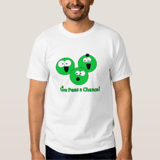 "Basic ""give peas a chance"" Pea-shirt T-shirts"