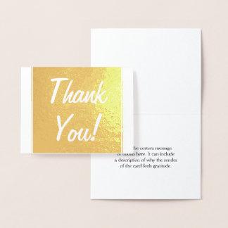 "Basic Gold Foil ""Thank You!"" Card"
