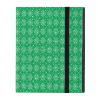 Basic Green Argyle iPad Folio Case