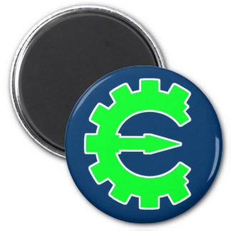 Basic Green Logo 2 Inch Round Magnet