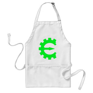 Basic Green Logo Adult Apron