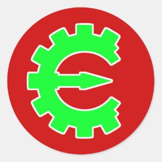Basic Green Logo Classic Round Sticker