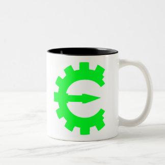 Basic Green Logo Two-Tone Coffee Mug
